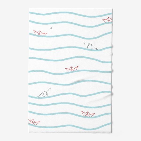 Полотенце «Бумажные кораблики»