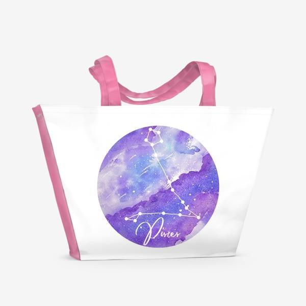 Пляжная сумка «Зодиак Рыбы»