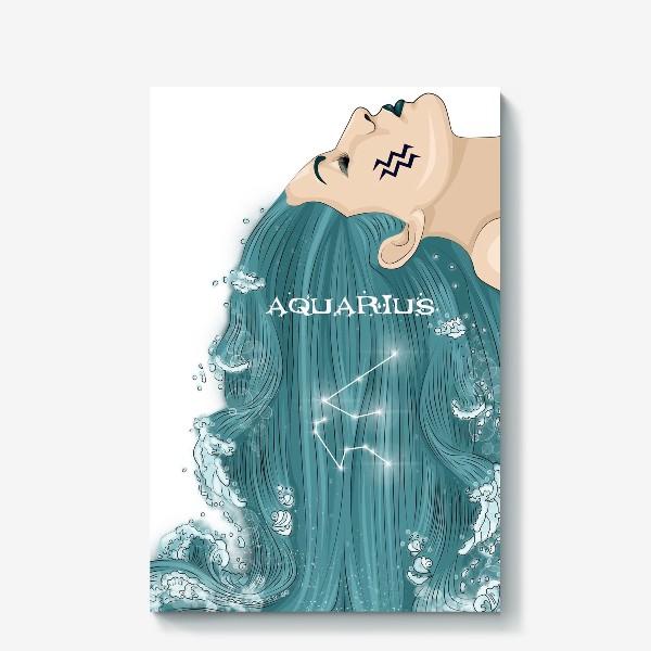 Холст «Девушка водолей»