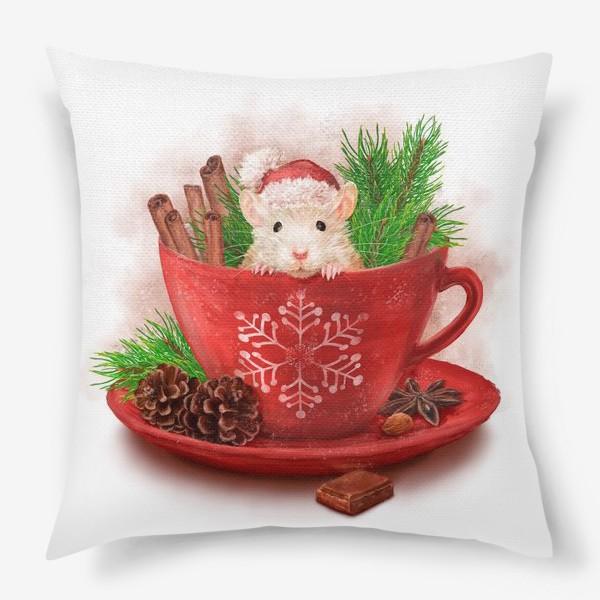 Подушка «Новогодняя мышка»