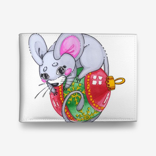 Кошелек «Мышка на елочной игрушке»