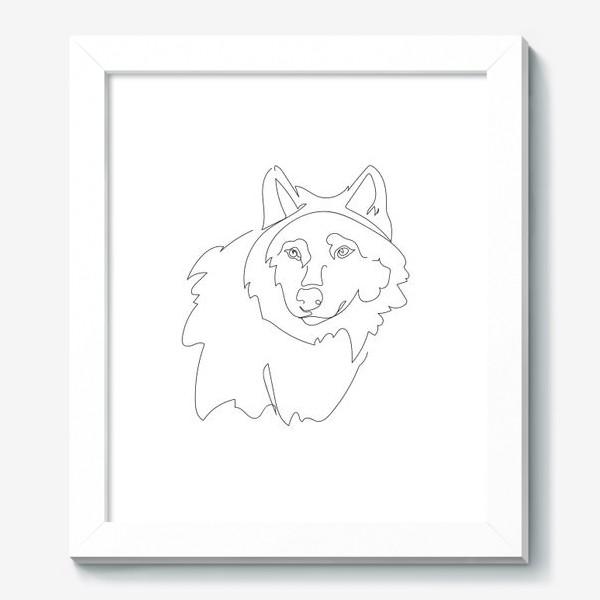 Картина «Волк. Графика. Линейный рисунок»
