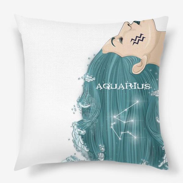 Подушка «Девушка водолей»