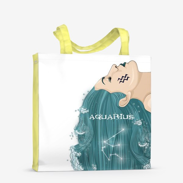Сумка-шоппер «Девушка водолей»