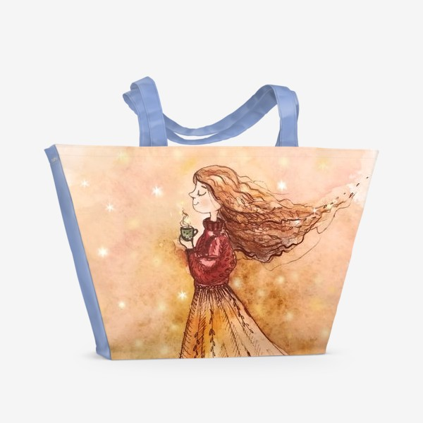 Пляжная сумка «Осенний скетч»