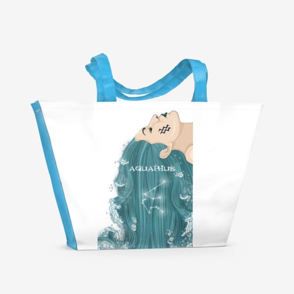 Пляжная сумка «Девушка водолей»