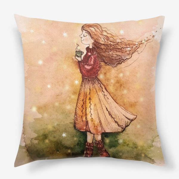 Подушка «Осенний скетч»