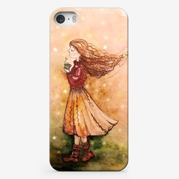Чехол iPhone «Осенний скетч»