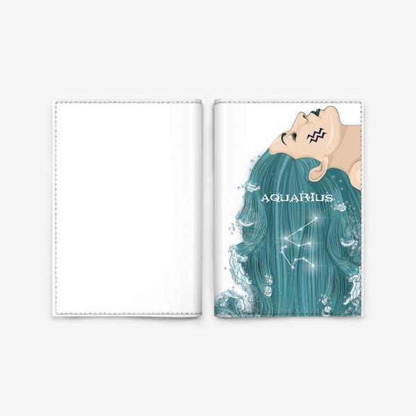 Обложка для паспорта «Девушка водолей»