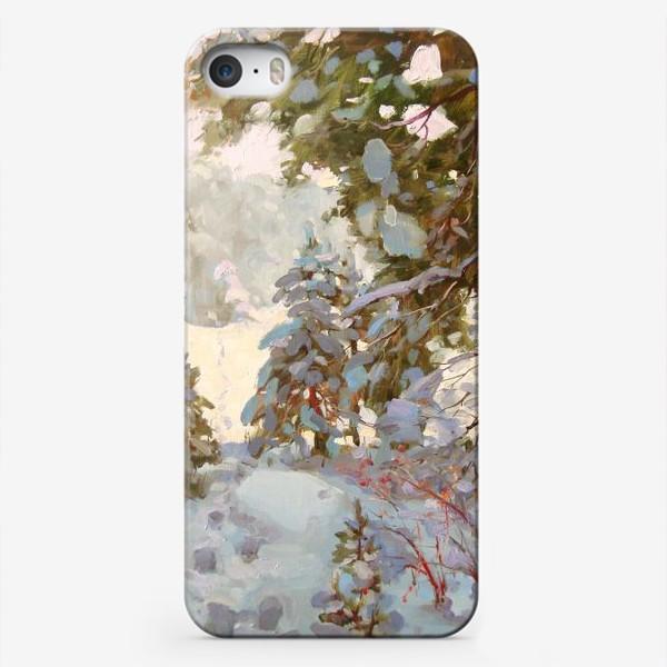 Чехол iPhone «А за городом зима,зима,зима...»