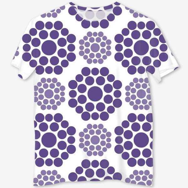 Футболка с полной запечаткой «Фиолетовые круги»