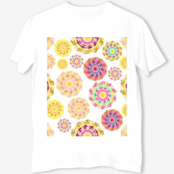 Футболка «Разноцветные абстрактные круги 2»