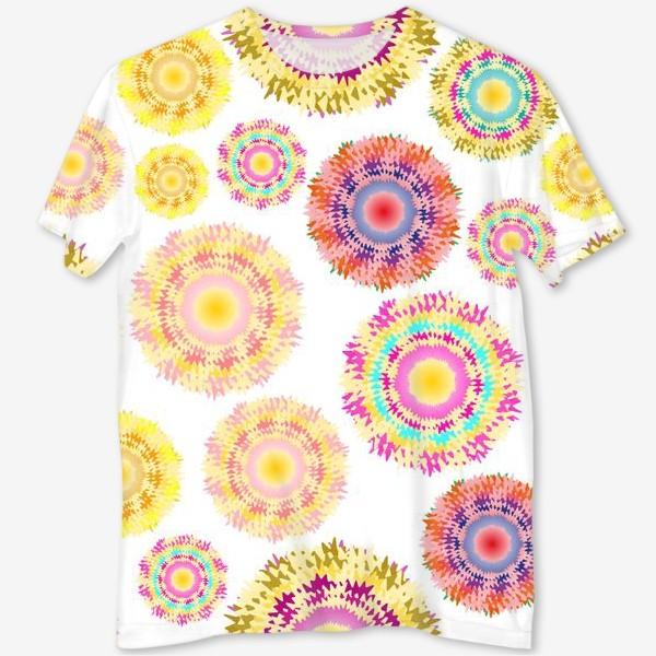 Футболка с полной запечаткой «Разноцветные абстрактные круги 2»
