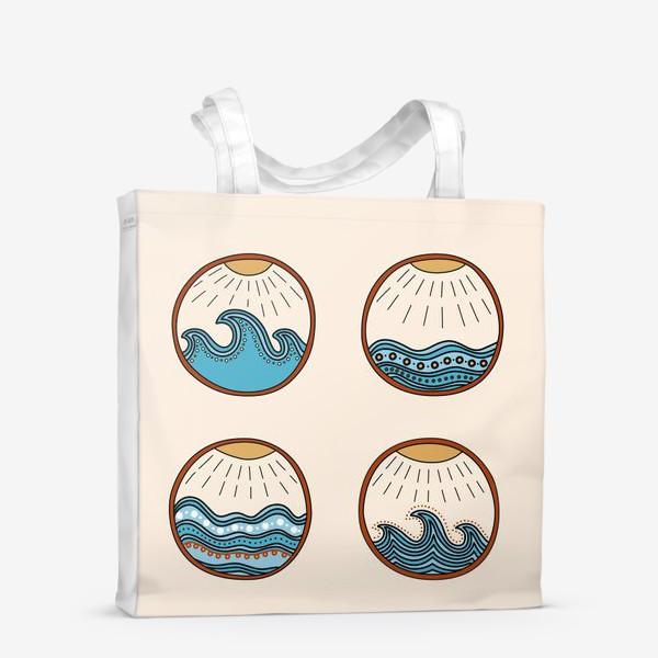 Сумка-шоппер «Дудловые волны»