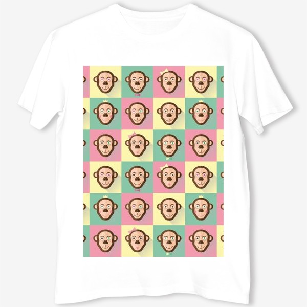 Футболка «Паттерн обезьяны»