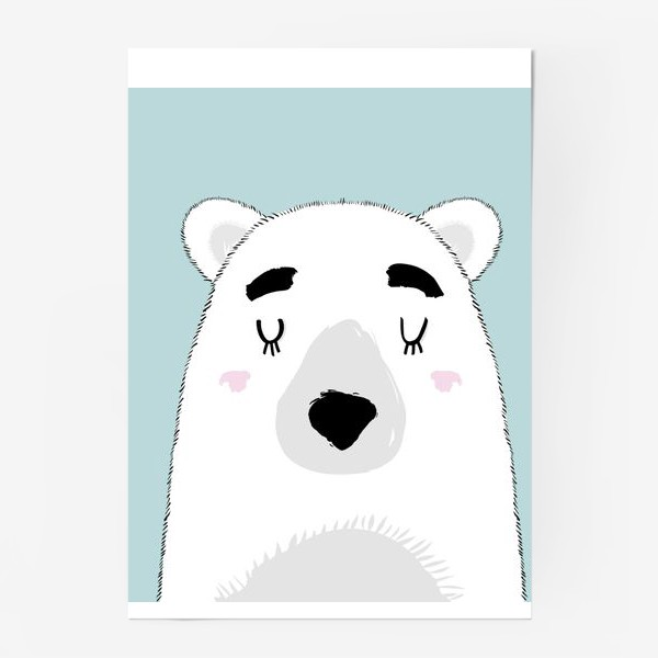Постер «Белый полярный медведь»