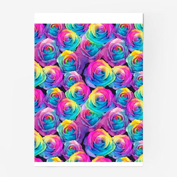 Постер «Радужные розы»