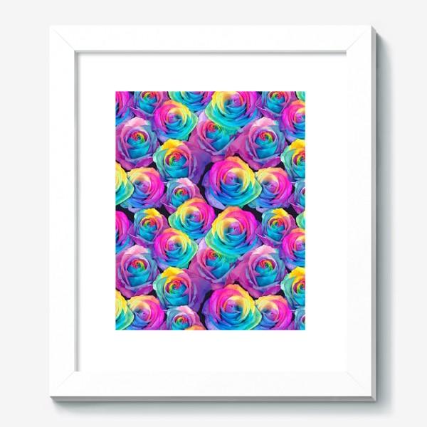 Картина «Радужные розы»
