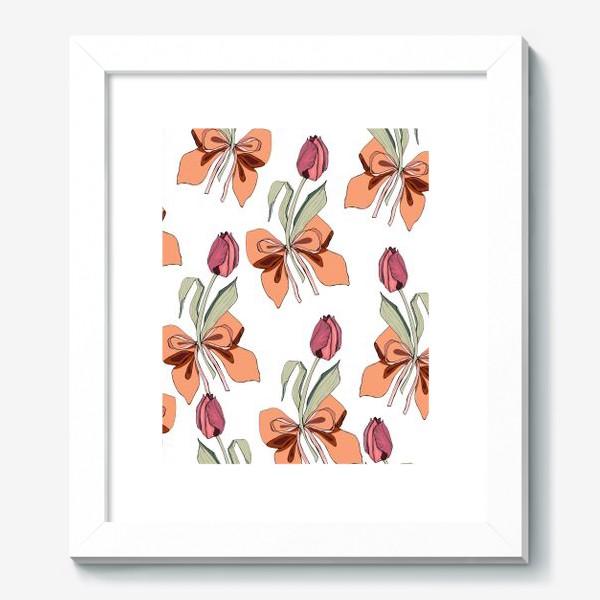 Картина «тюльпаны с бантиками»