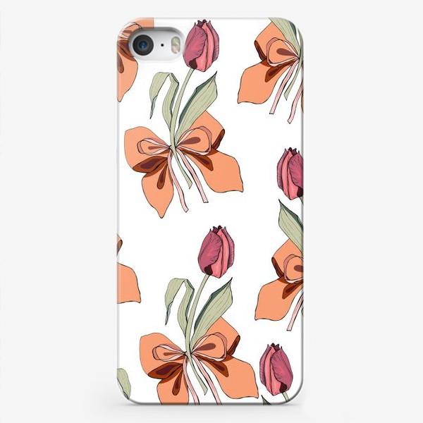 Чехол iPhone «тюльпаны с бантиками»