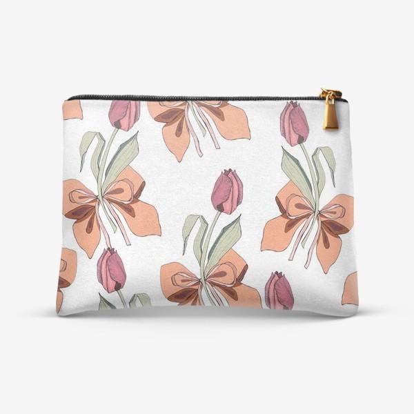 Косметичка «тюльпаны с бантиками»