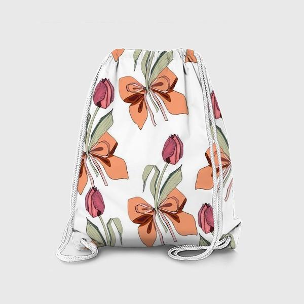 Рюкзак «тюльпаны с бантиками»