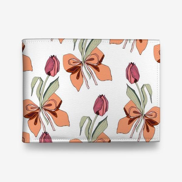 Кошелек «тюльпаны с бантиками»