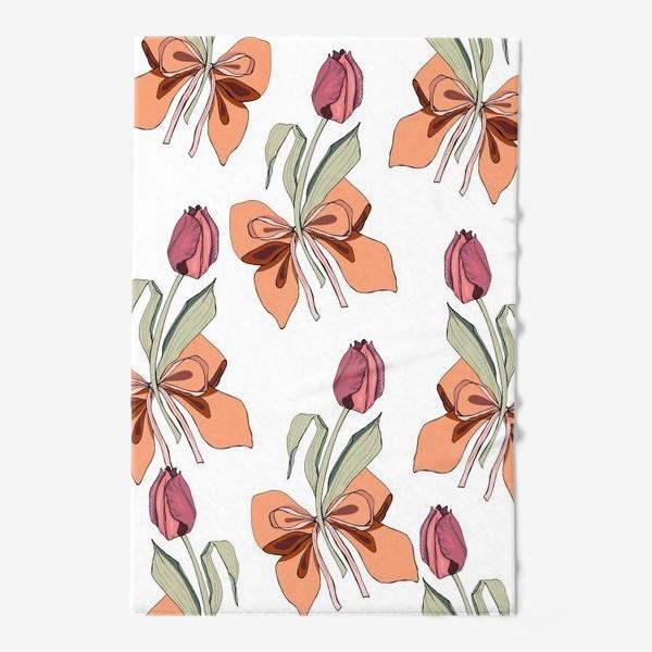 Полотенце «тюльпаны с бантиками»