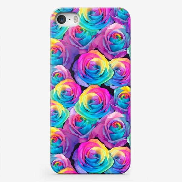 Чехол iPhone «Радужные розы»