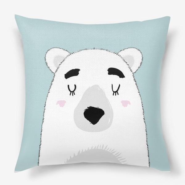 Подушка «Белый полярный медведь»