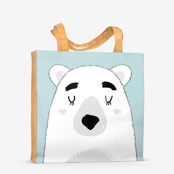 Сумка-шоппер «Белый полярный медведь»