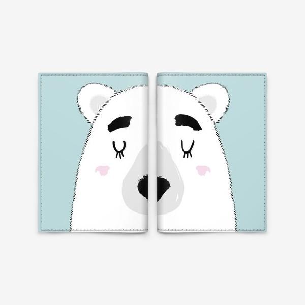 Обложка для паспорта «Белый полярный медведь»