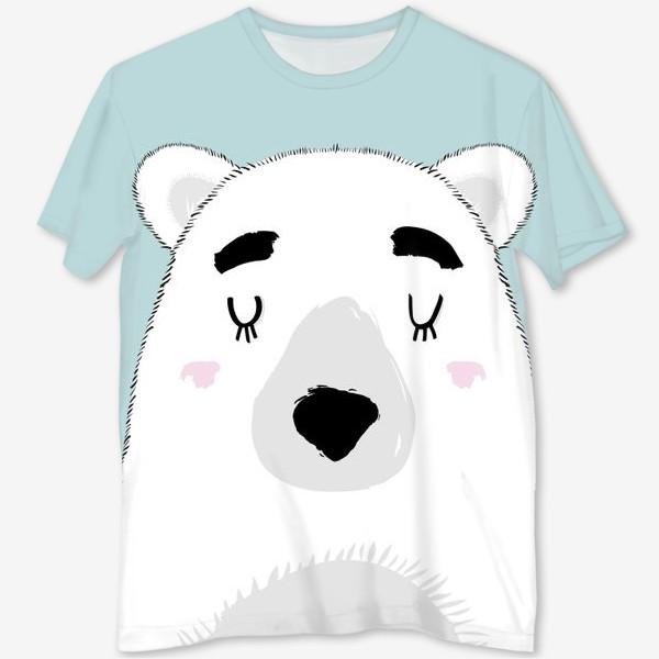 Футболка с полной запечаткой «Белый полярный медведь»