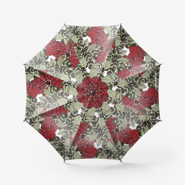 Зонт «пуансеттия»
