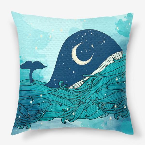 Подушка «Китовая сказка 4»