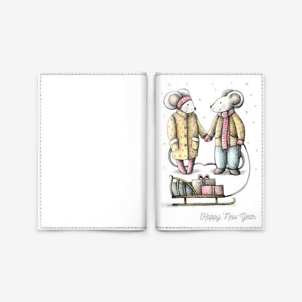 Обложка для паспорта «новогоднее»