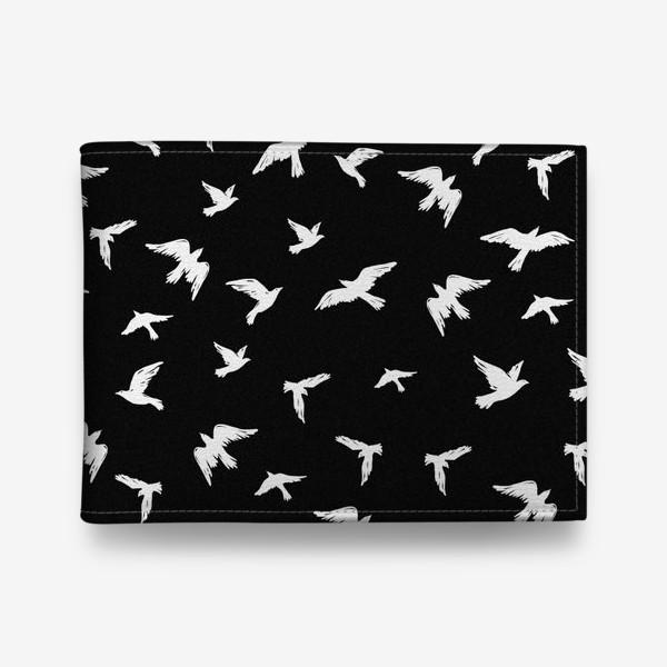 Кошелек «Птицы на чёрном»