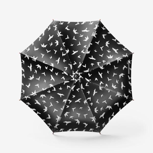 Зонт «Птицы на чёрном»