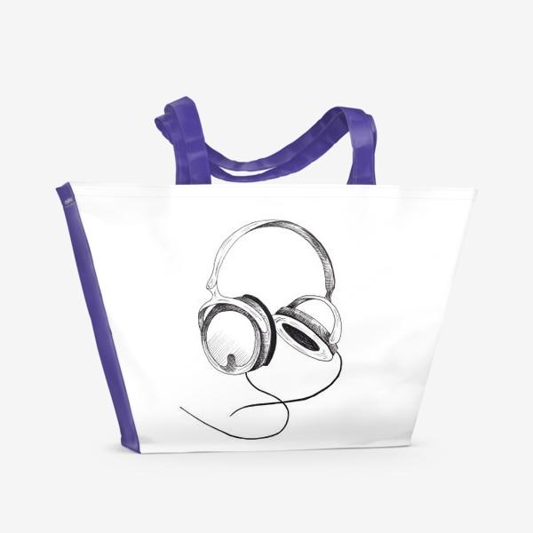Пляжная сумка «Наушники»