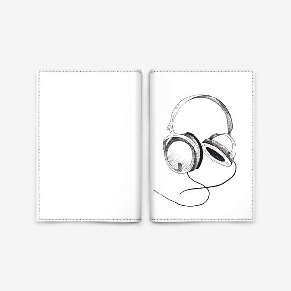 Обложка для паспорта «Наушники»