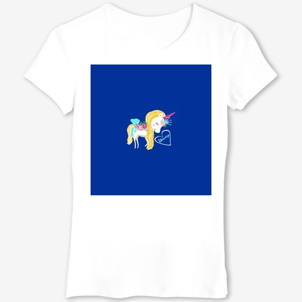 Футболка «Единорог unicorn принт цветы»