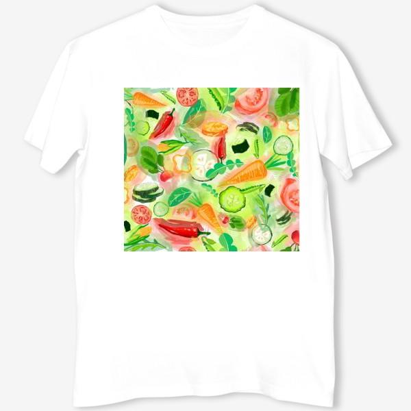 Футболка «Овощи витамины vegetables огурец помидор перец зелень»