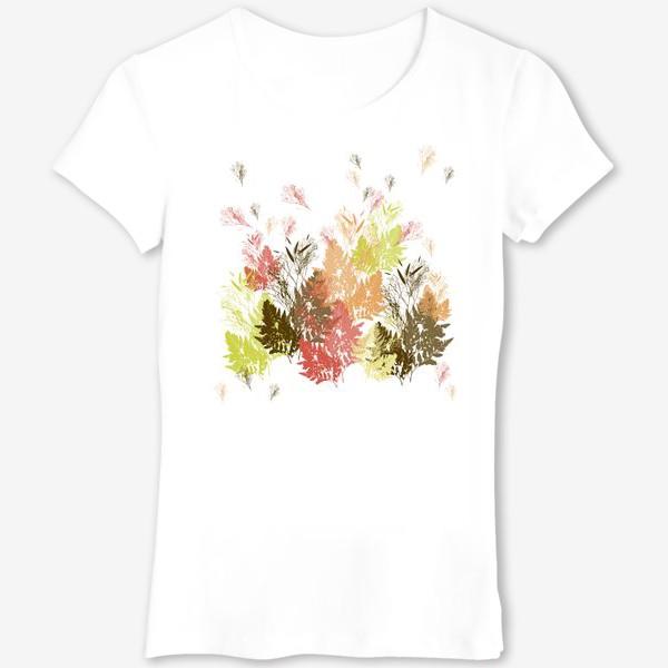 Футболка «Растения осень листочки природа деревья»