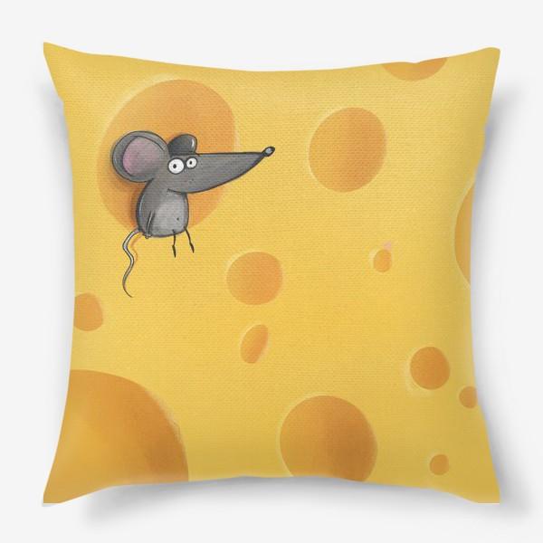 Подушка «мышь на сыре»