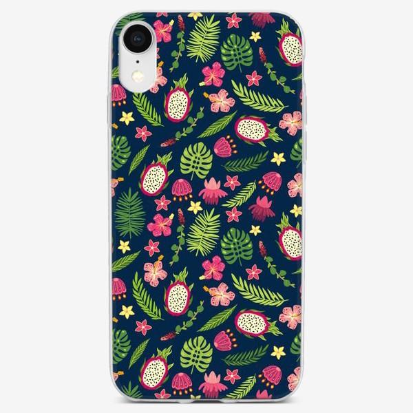 Чехол iPhone «Розовые тропики»