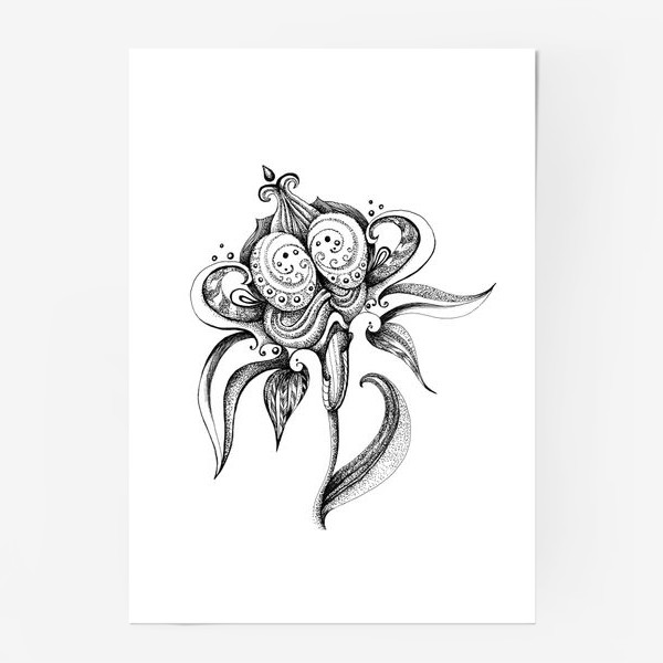 Постер «цветок»