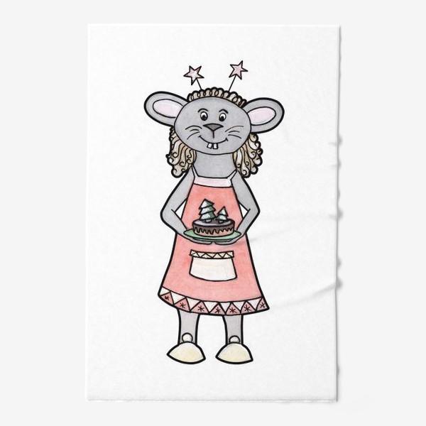 Полотенце «Мышка с тортиком»