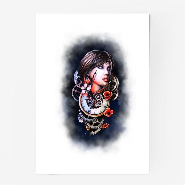 Постер «Девушка и часы!»