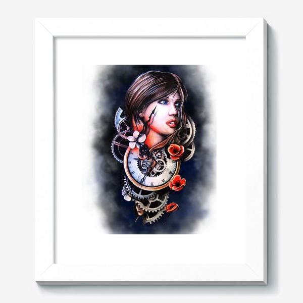 Картина «Девушка и часы!»
