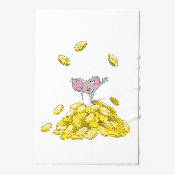 Полотенце «Мышка купается в монетах»